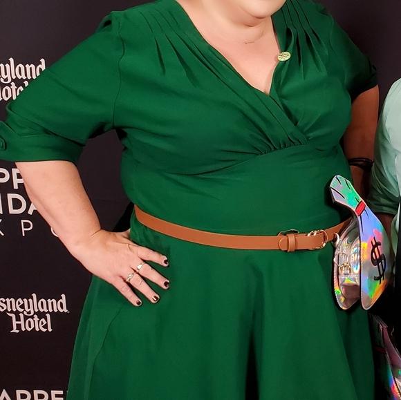 Unique Vintage Dresses & Skirts - Green swing dress